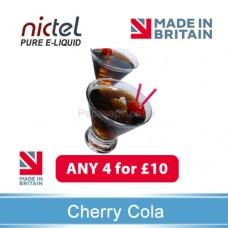 Nictel Cherry Cola E-liquid ANY 4 for £10 - 10 for £22