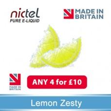 Nictel Lemon Zesty E-liquid ANY 4 for £10 - 10 for £22