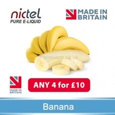 Nictel banana E-liquid  ANY 4 for £10 - 10 for £22