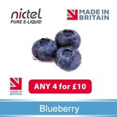 Nictel Blueberry E-liquid ANY 4 for £10 - 10 for £22