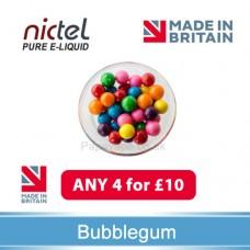Nictel Bubblegum E-liquid ANY 4 for £10 - 10 for £22