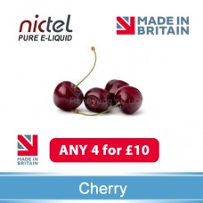 Nictel Cherry E-liquid ANY 4 for £10 - 10 for £22