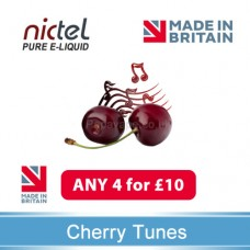 Nictel Cherry Tunes E-liquid ANY 4 for £10 - 10 for £22