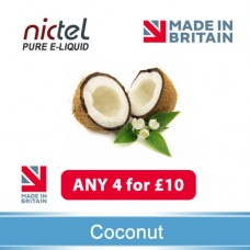 Nictel Coconut E-liquid ANY 4 for £10 - 10 for £22
