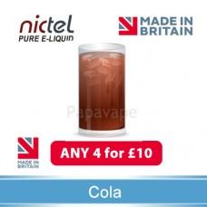 Nictel Cola E-liquid  ANY 4 for £10 - 10 for £22