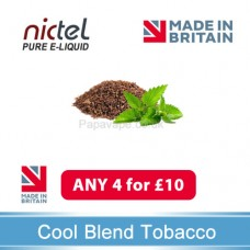 Nictel COOL BLEND TOBACCO E-liquid ANY 4 for £10 - 10 for £22