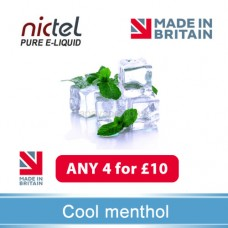 Nictel Cool Menthol E-liquid ANY 4 for £10 - 10 for £22