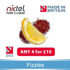 Nictel Fizzles E-liquid ANY 4 for £10 - 10 for £22