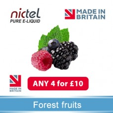 Nictel Forest Fruits E-liquid ANY 4 for £10 - 10 for £22