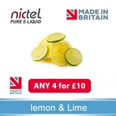 Nictel Lemon&Lime E-liquid ANY 4 for £10 - 10 for £22