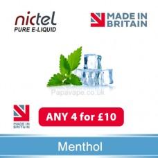 Nictel Menthol E-liquid ANY 4 for £10 - 10 for £22