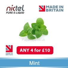 Nictel Mint E-liquid ANY 4 for £10 - 10 for £22
