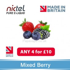 Nictel Mixed Berry E-liquid ANY 4 for £10 - 10 for £22