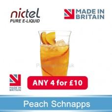 Nictel Peach schnapps  E-liquid ANY 4 for £10 - 10 for £22
