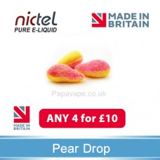 Nictel Pear Drop E-liquid ANY 4 for £10 - 10 for £22