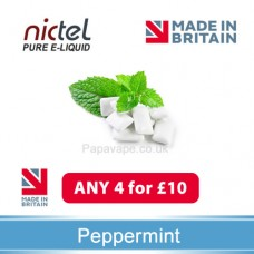 Nictel Peppermint E-liquid ANY 4 for £10 - 10 for £22