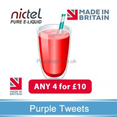 Nictel Purple Tweets E-liquid  ANY 4 for £10 - 10 for £22