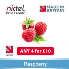 Nictel Rasberry E-liquid ANY 4 for £10 - 10 for £22