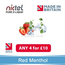 Nictel Red Menthol E-liquid ANY 4 for £10 - 10 for £22