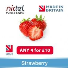 Nictel Strawberry E-liquid ANY 4 for £10 - 10 for £22