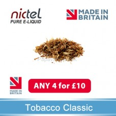 Nictel Tobacco Classic E-liquid ANY 4 for £10 - 10 for £22