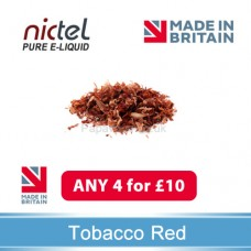 Nictel Tobacco Red E-liquid ANY 4 for £10 - 10 for £22