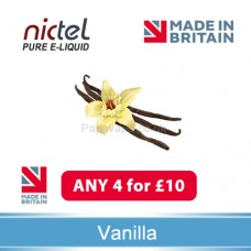 Nictel Vanilla E-liquid ANY 4 for £10 - 10 for £22