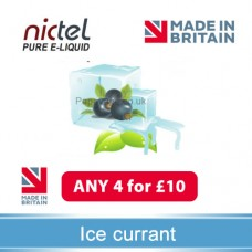 Nictel Ice Currant E-liquid  ANY 4 for £10 - 10 for £22