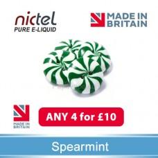 Nictel Spearmint E-liquid  ANY 4 for £10 - 10 for £22